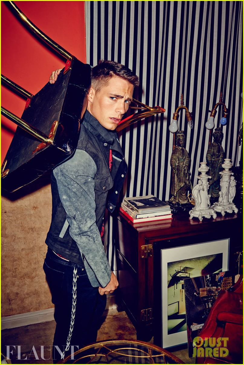colton haynes flexes his muscles for flaunt feature 08