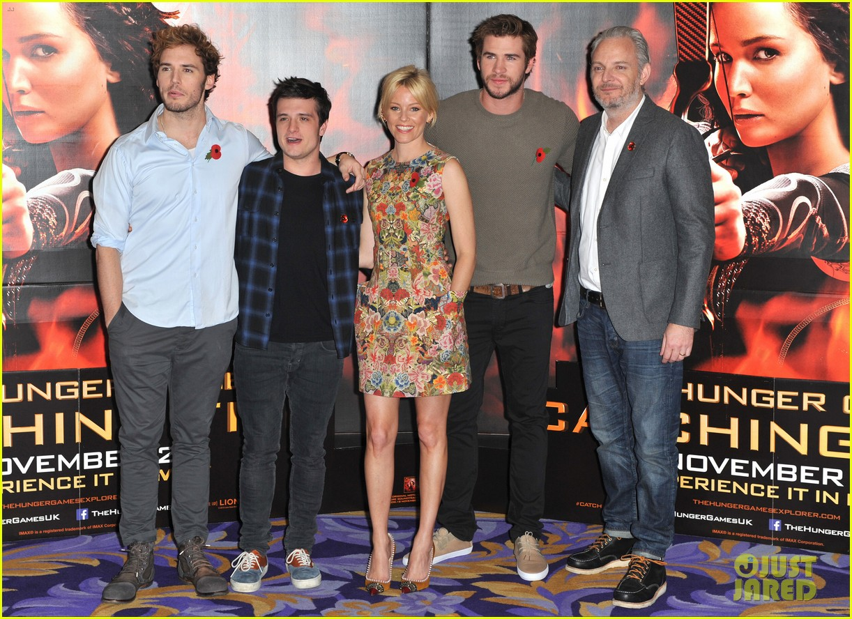 liam hemsworth josh hutcherson catching fire london photo call 152990221