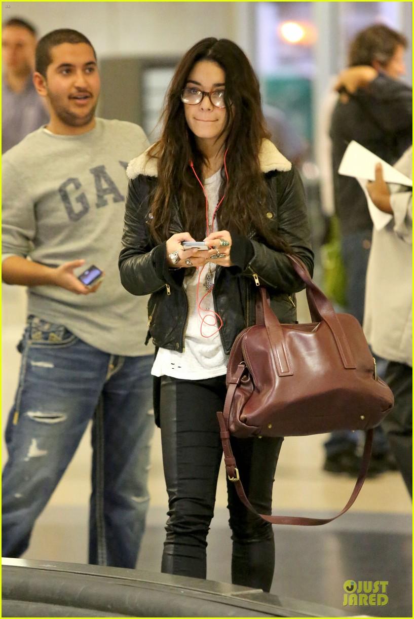 vanessa hudgens sports eyeglasses at lax airport 242993795