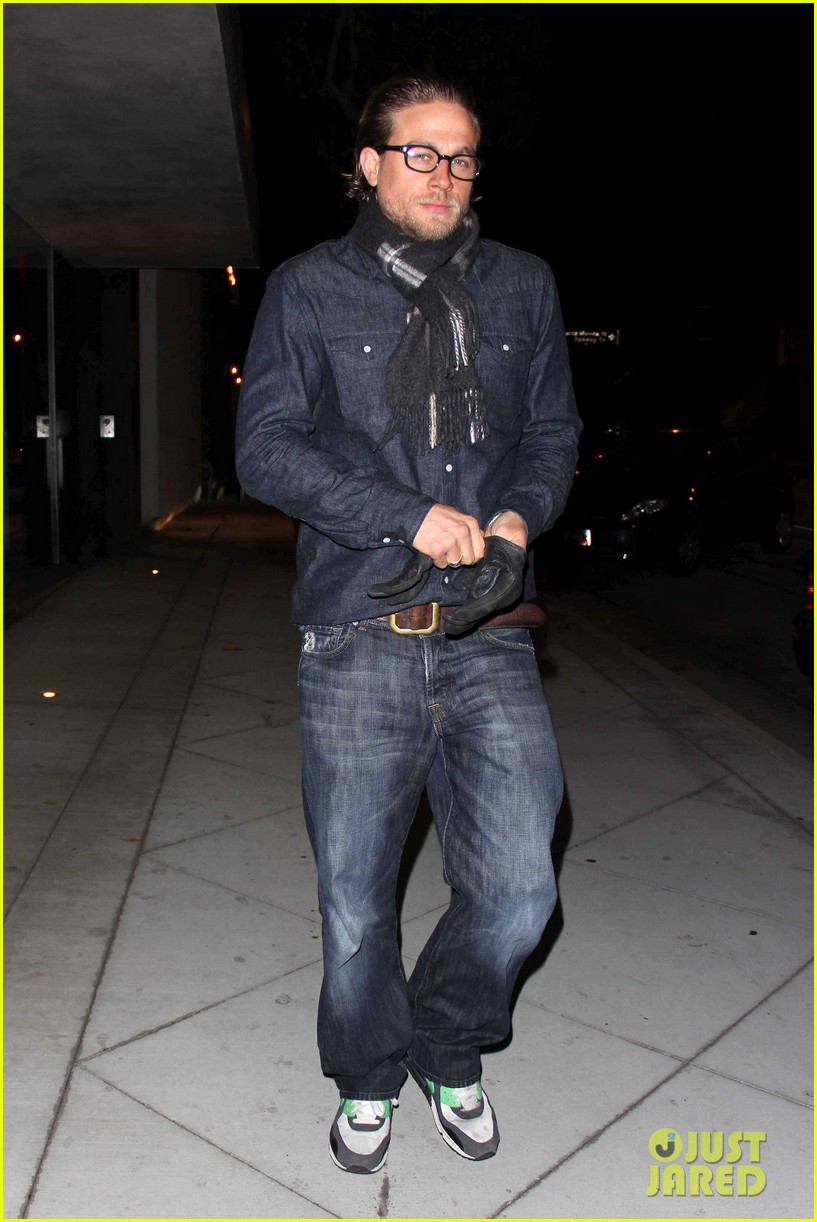 charlie hunnam does double denim for tuesday night out 012987012