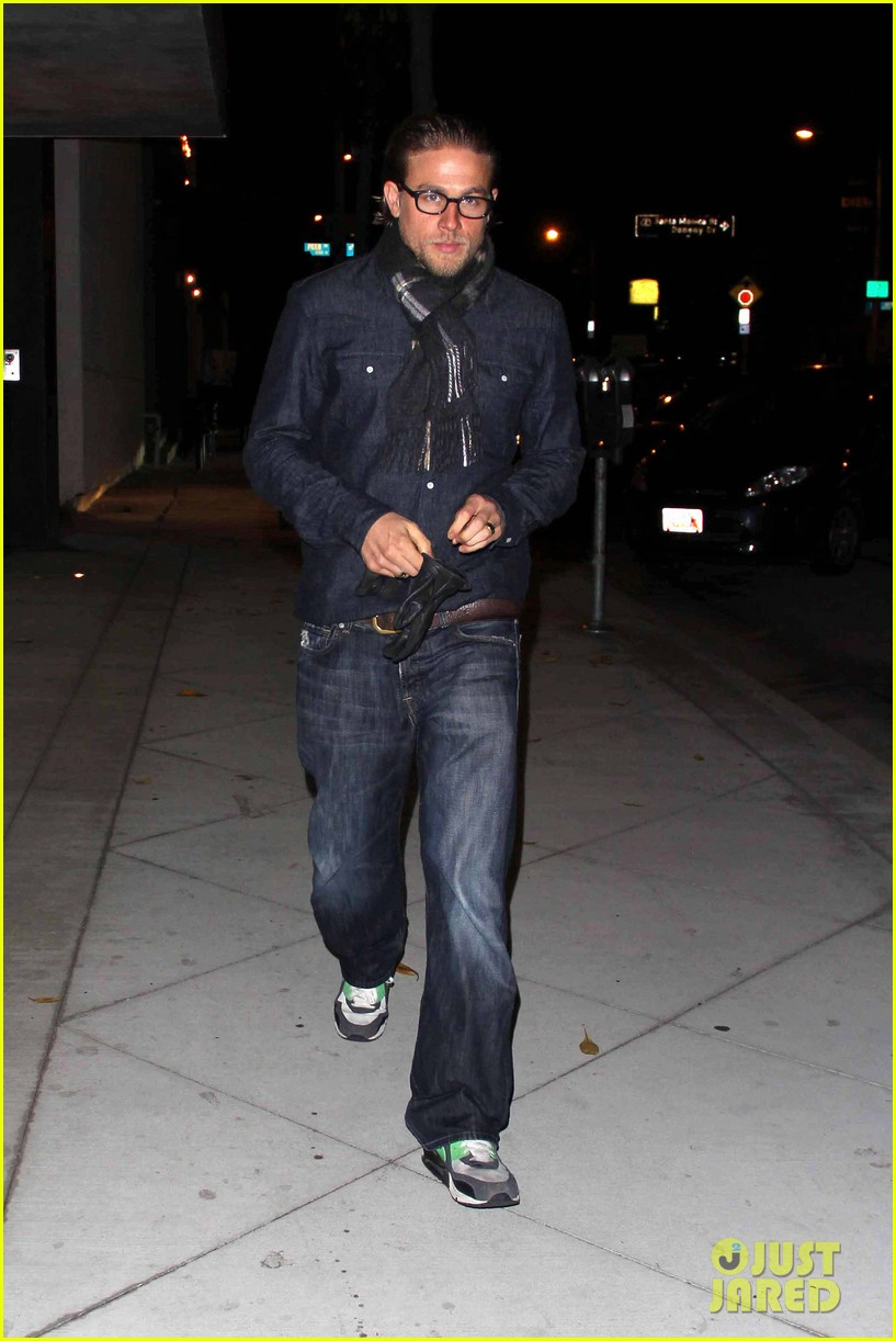 charlie hunnam does double denim for tuesday night out 022987013