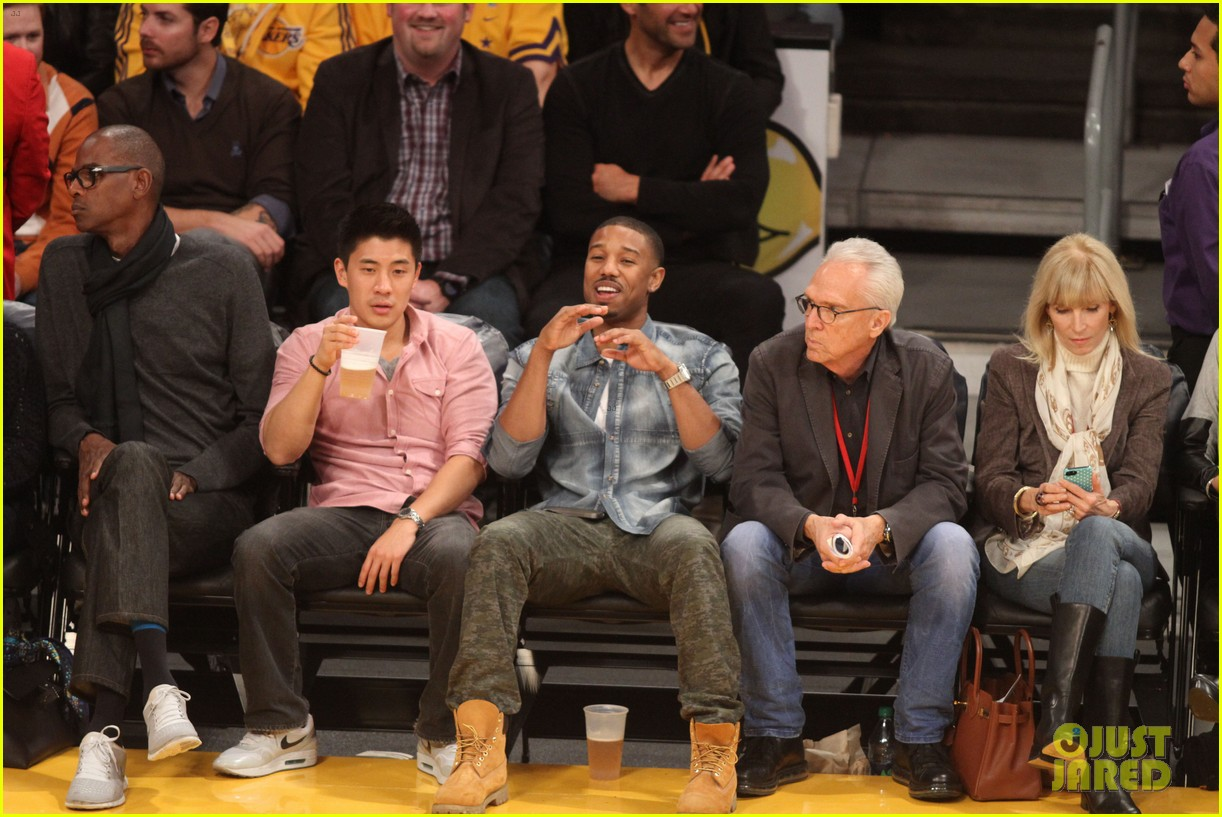 michael b jordan courtside seats at lakers v kings game 202999936