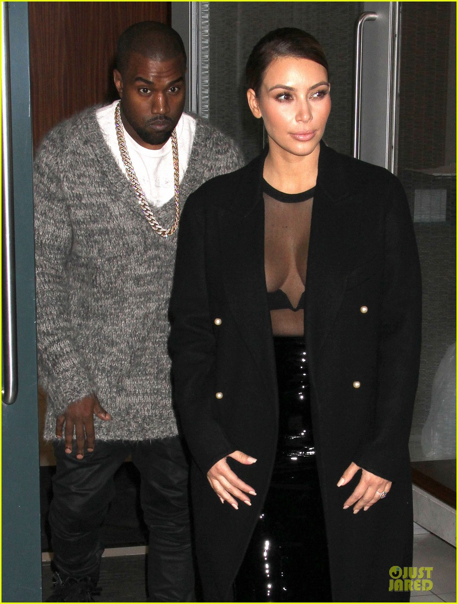 kim kardashian sheer cleavage for kanye west concert 022996254