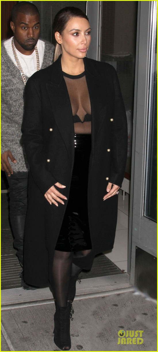 kim kardashian sheer cleavage for kanye west concert 092996261