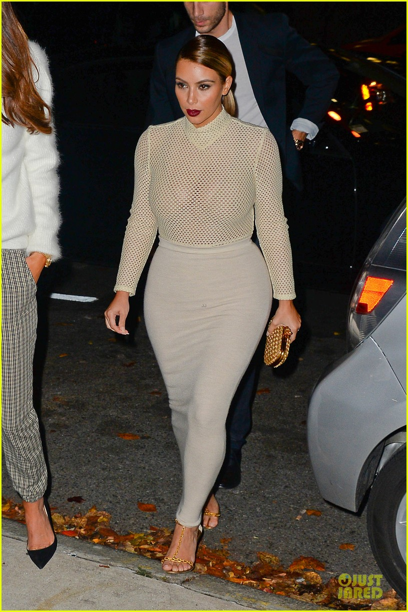 kim kardashian perforated top for outing with kendall jenner 012995630
