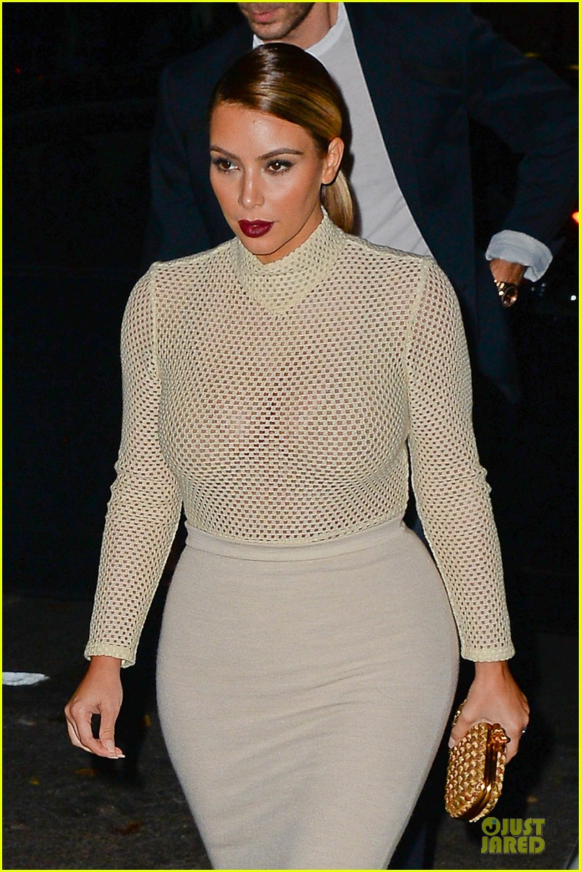 kim kardashian perforated top for outing with kendall jenner 072995636