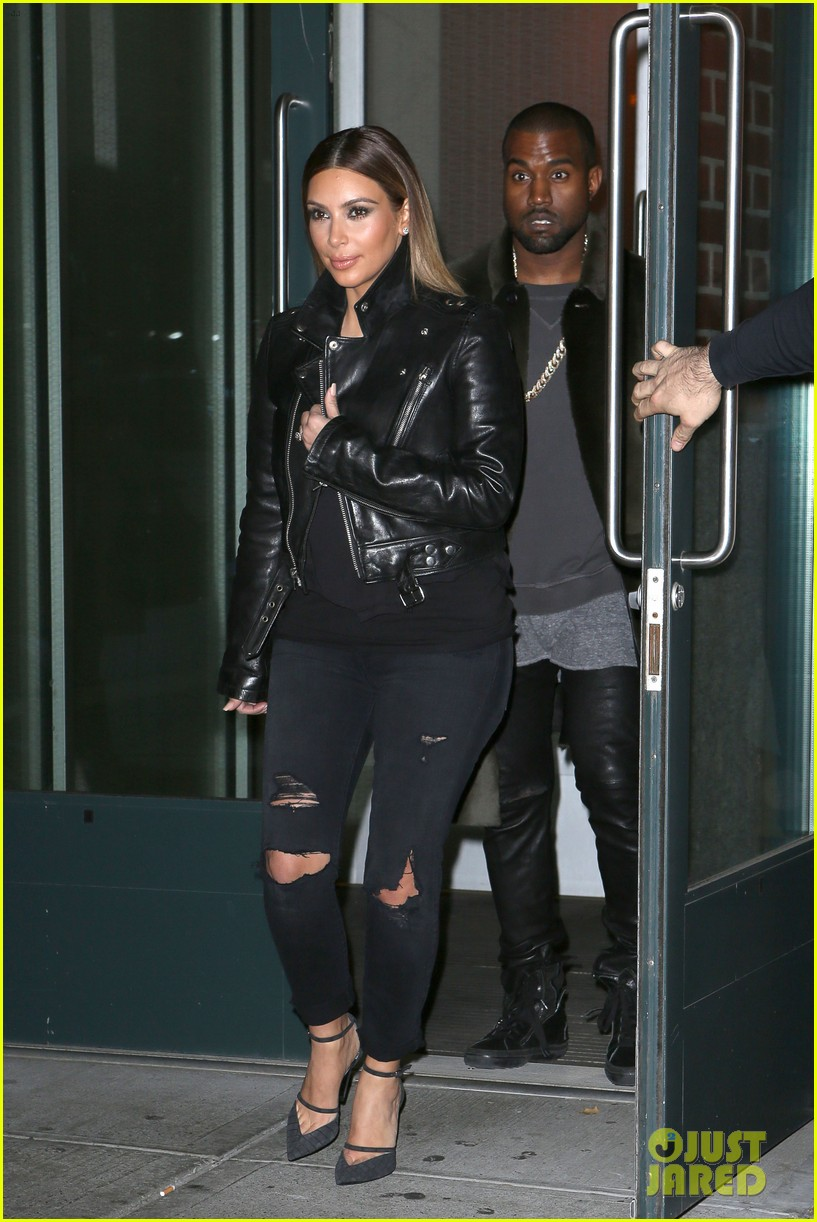 kim kardashian kanye west smile big for lucky fans 062999720