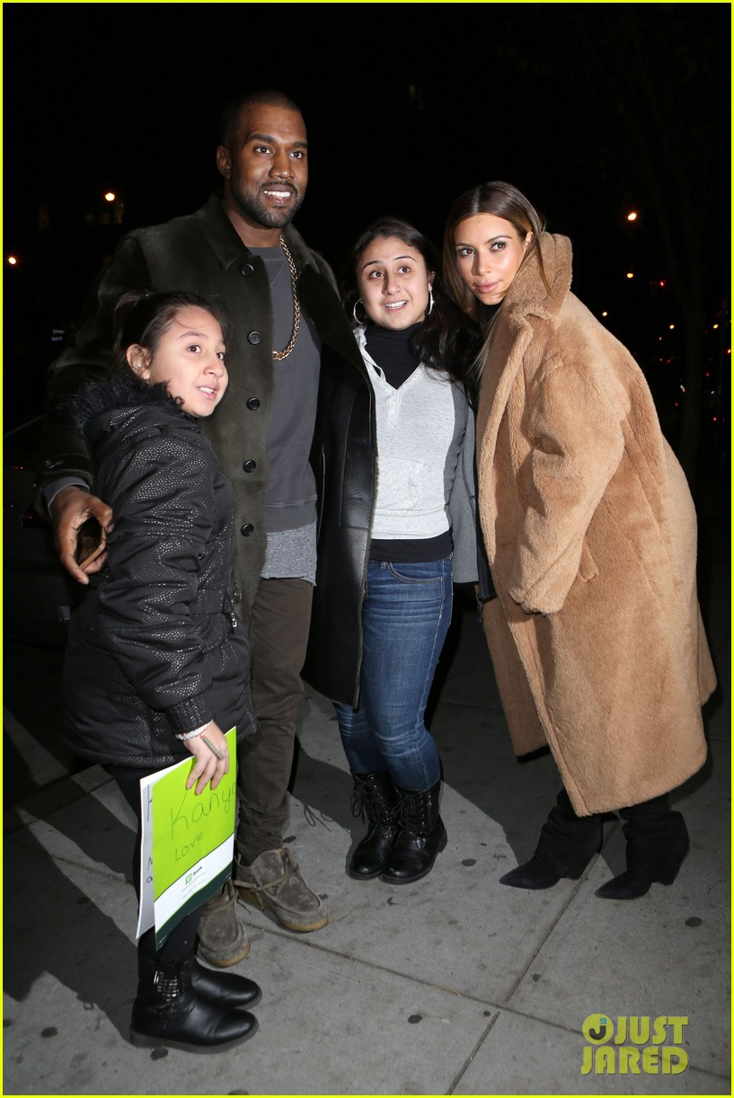 kim kardashian kanye west smile big for lucky fans 092999723