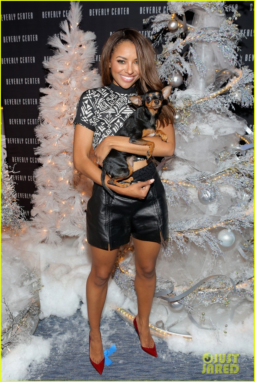 kat graham pet pup izzy beverly center pet portrait kick off 062993313