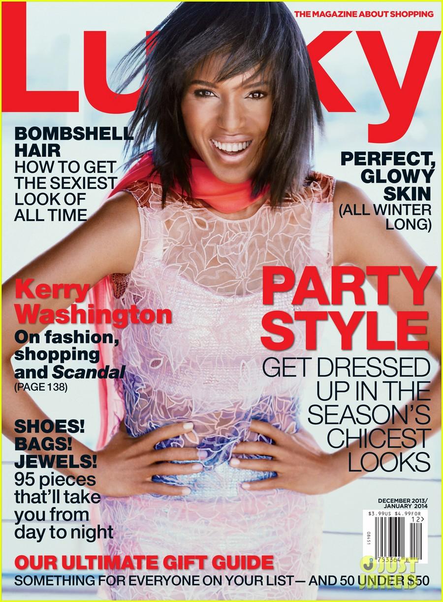 kerry washington covers lucky magazine 012991140
