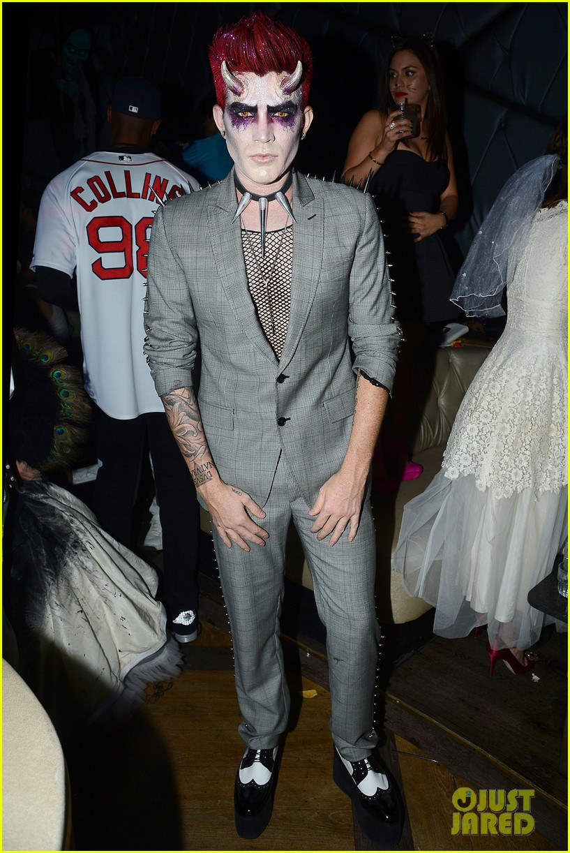 adam lambert hosts halloween party goes as devil 012984209