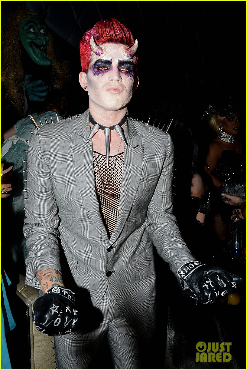 adam lambert hosts halloween party goes as devil 042984212