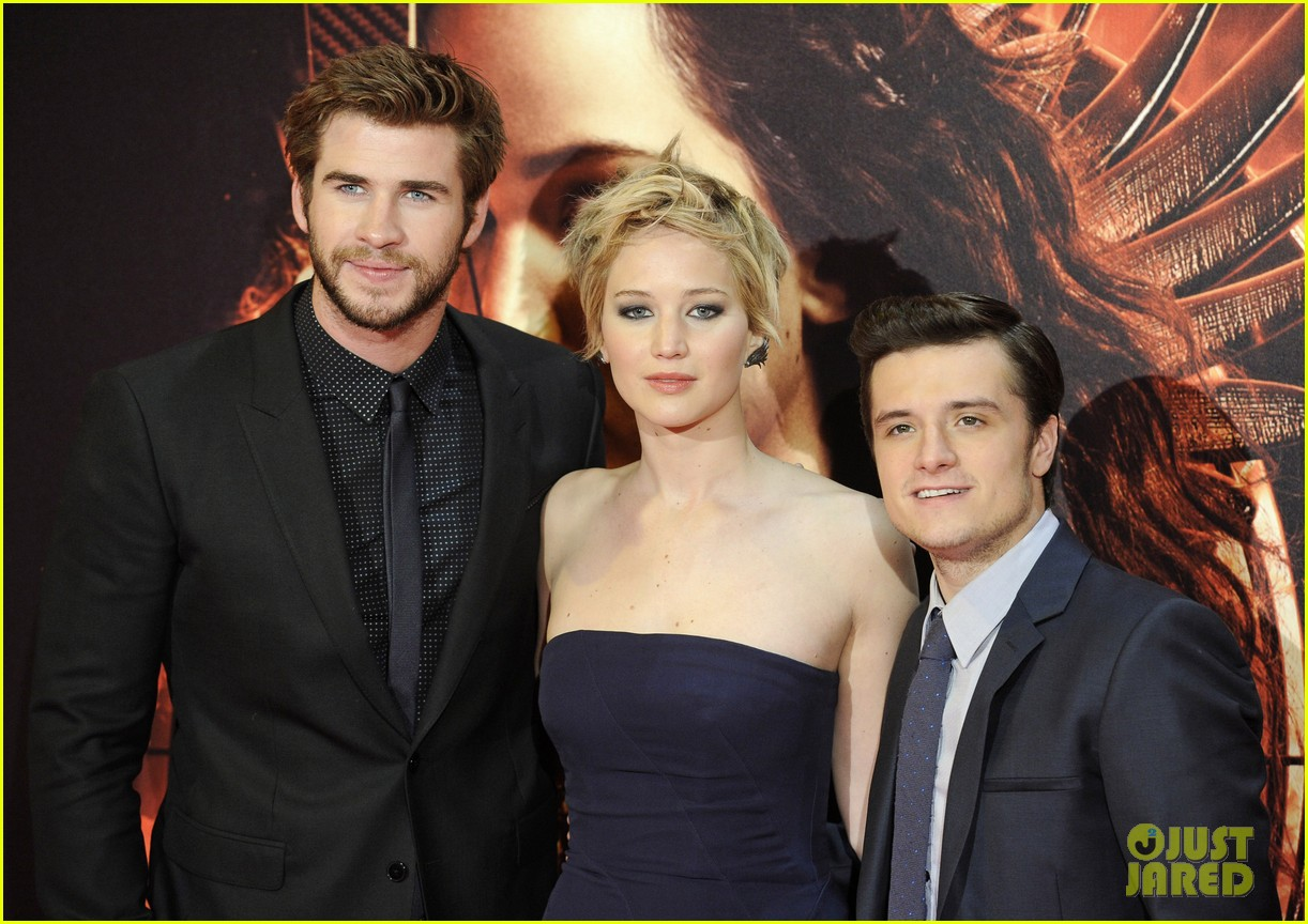 jennifer lawrence josh hutcherson catching fire madrid premiere 252991928