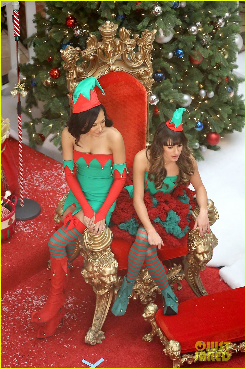 lea michele naya rivera santas sexy little helpers 072987821
