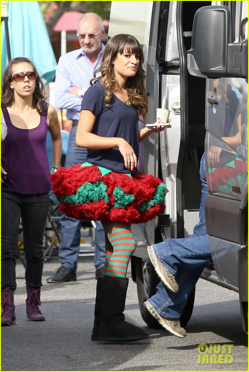lea michele naya rivera santas sexy little helpers 112987825