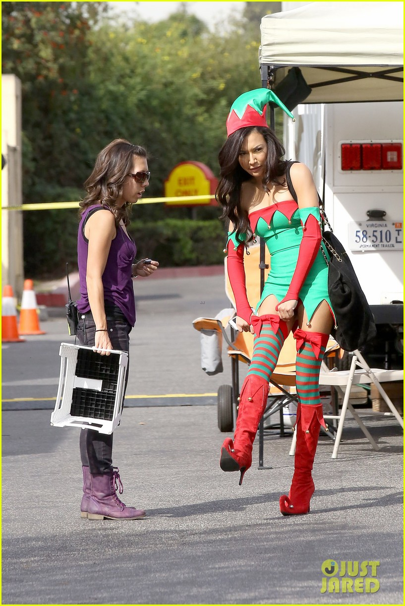lea michele naya rivera santas sexy little helpers 142987828