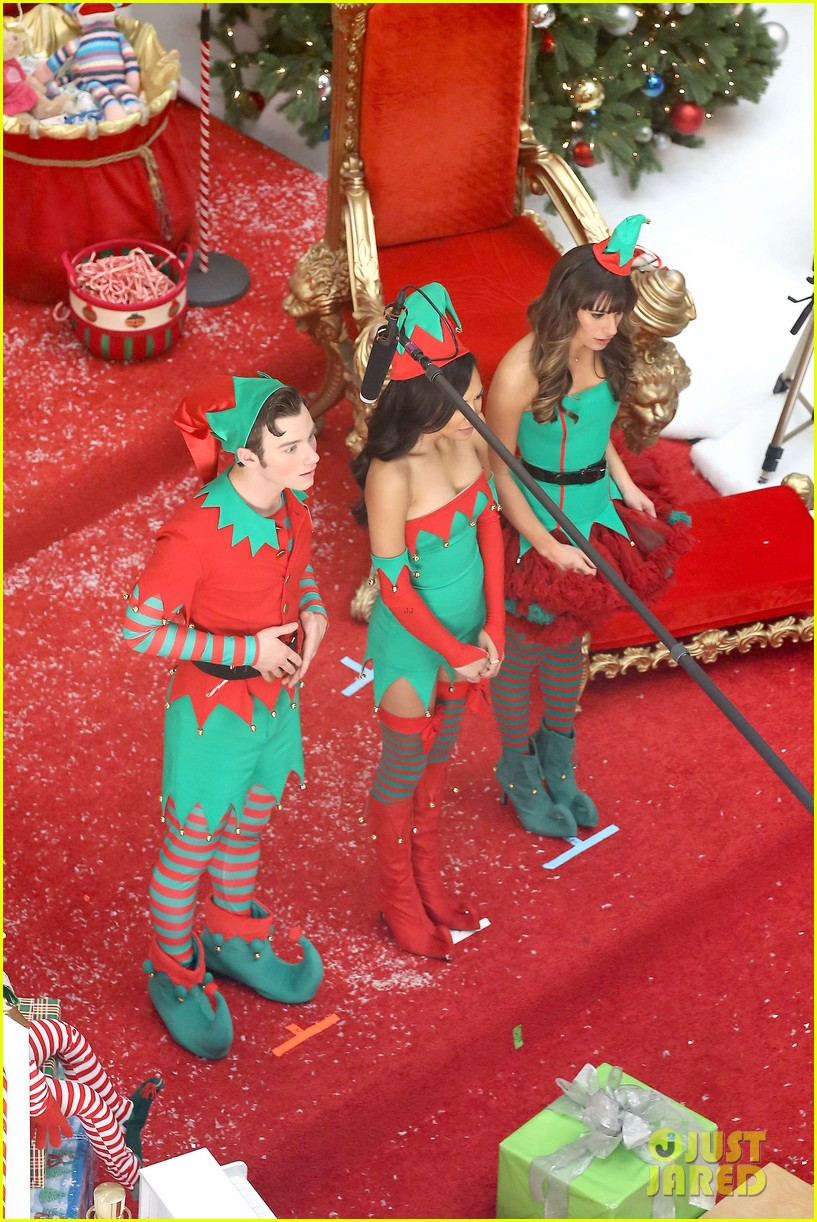lea michele naya rivera santas sexy little helpers 192987833