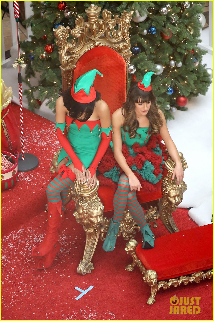 lea michele naya rivera santas sexy little helpers 242987838