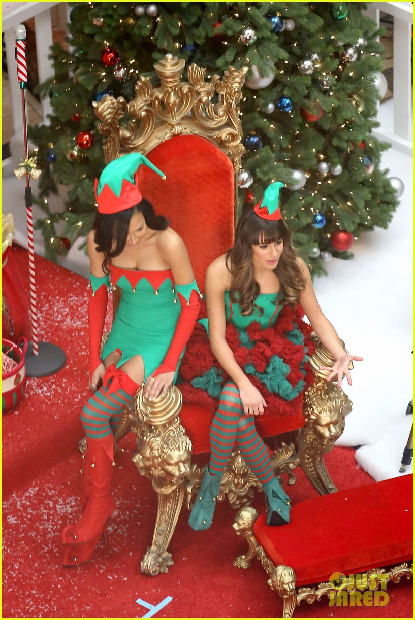 lea michele naya rivera santas sexy little helpers 252987839