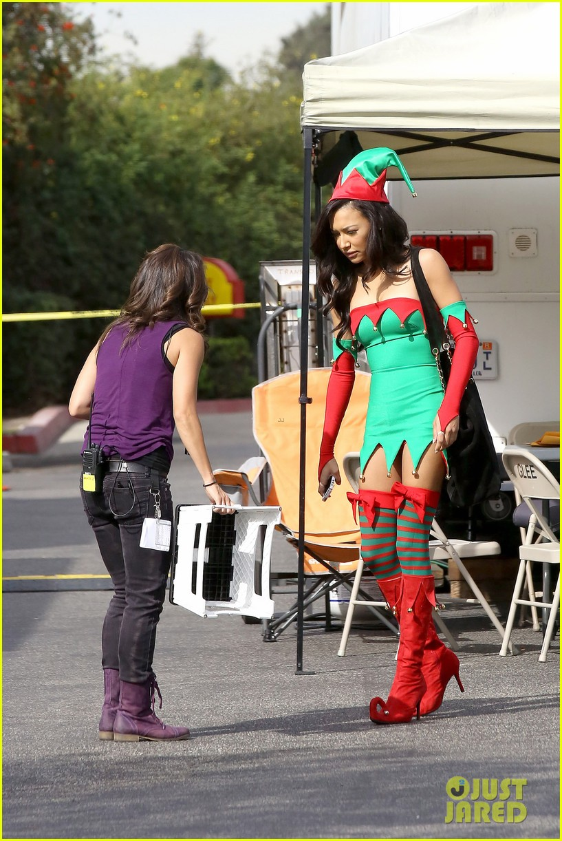 lea michele naya rivera santas sexy little helpers 272987841