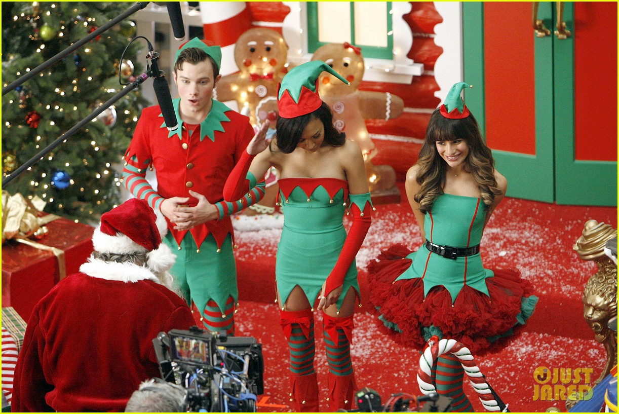 lea michele naya rivera santas sexy little helpers 302987844