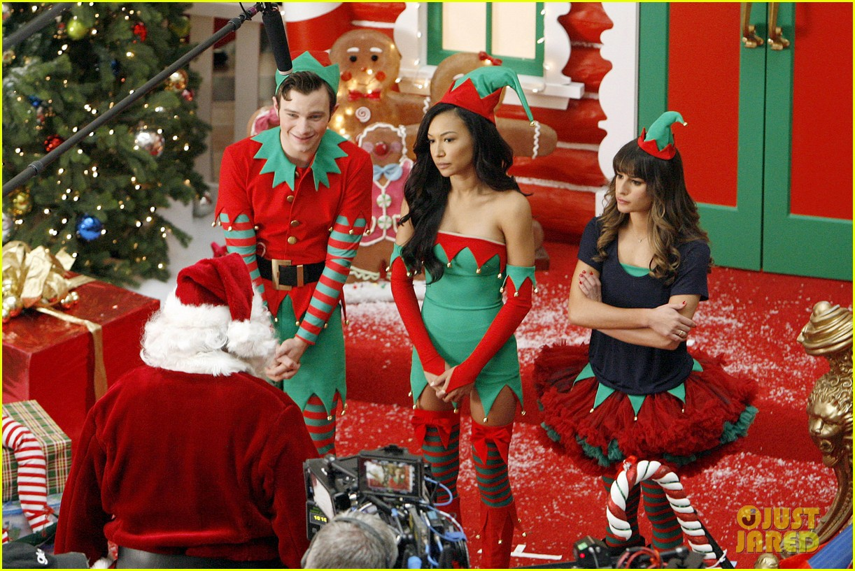 lea michele naya rivera santas sexy little helpers 312987845