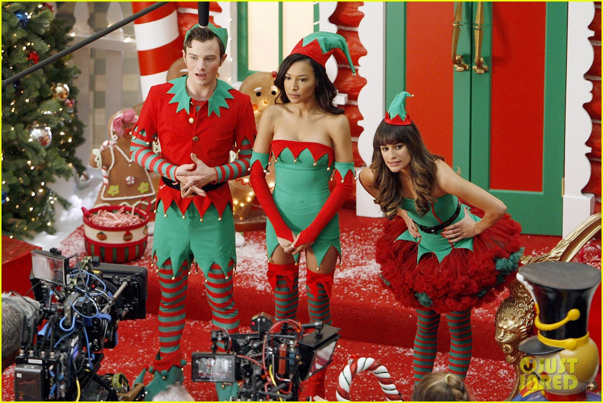 lea michele naya rivera santas sexy little helpers 322987846