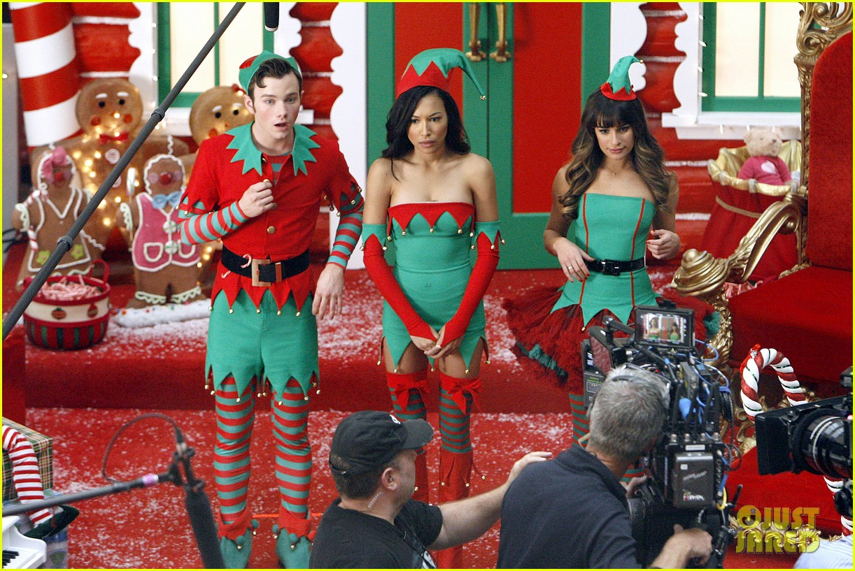 lea michele naya rivera santas sexy little helpers 392987853