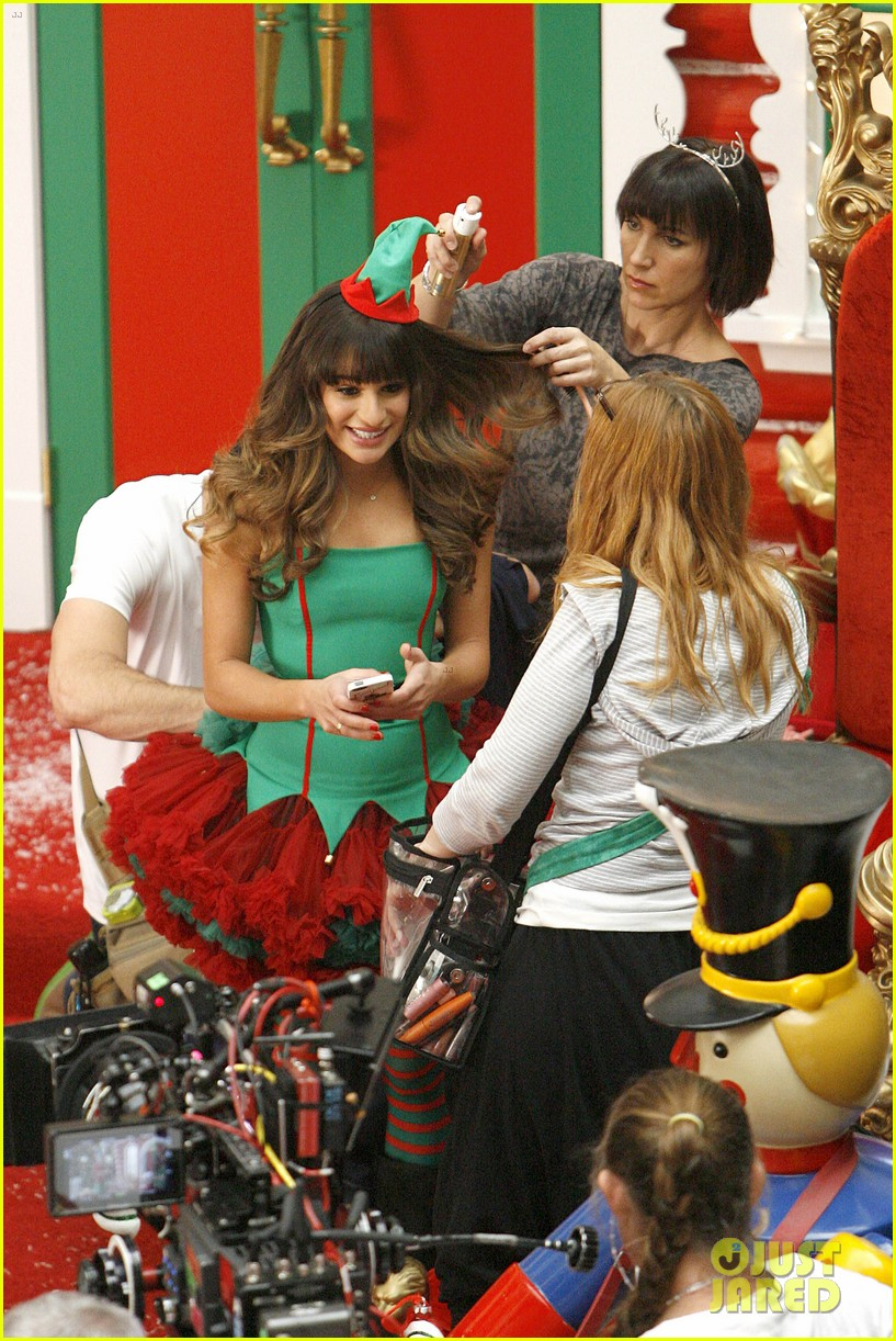 lea michele naya rivera santas sexy little helpers 432987857