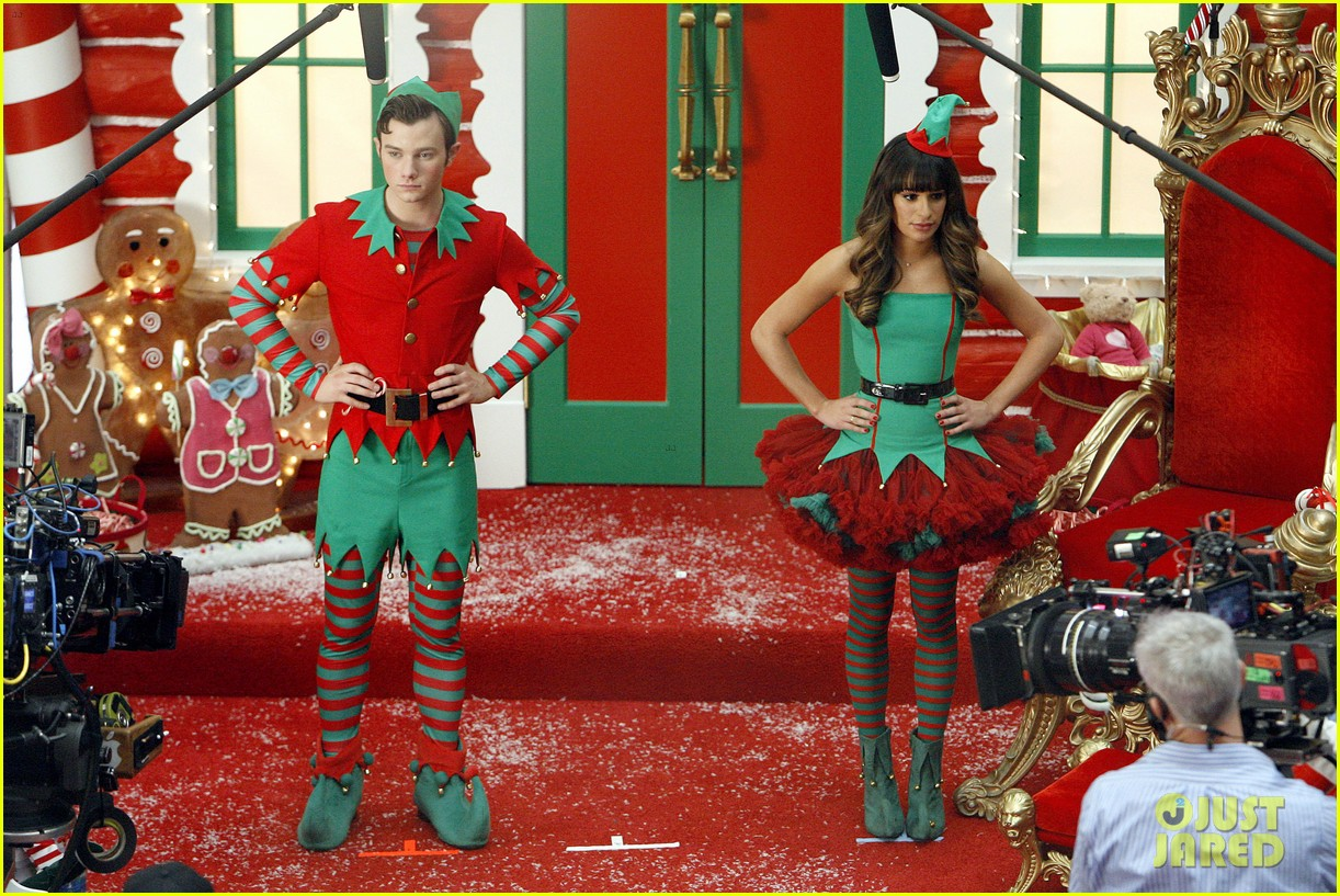 lea michele naya rivera santas sexy little helpers 472987861