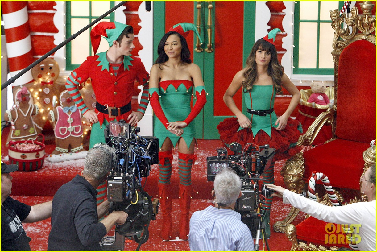 lea michele naya rivera santas sexy little helpers 492987863