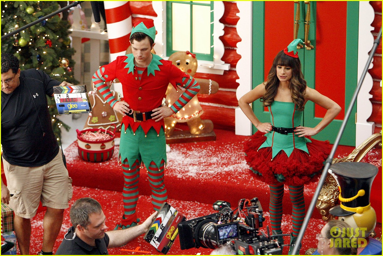 lea michele naya rivera santas sexy little helpers 502987864