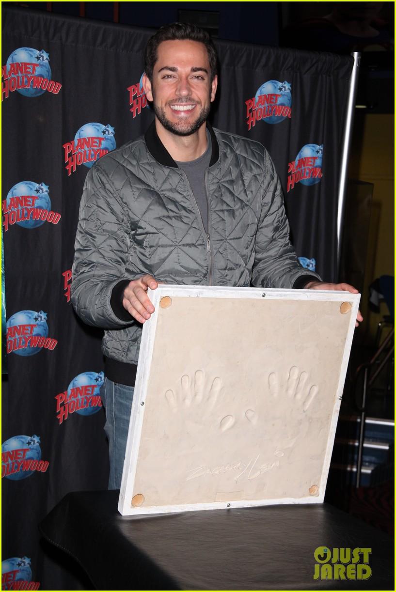 zachary levi planet hollywood handprint ceremony 022988536