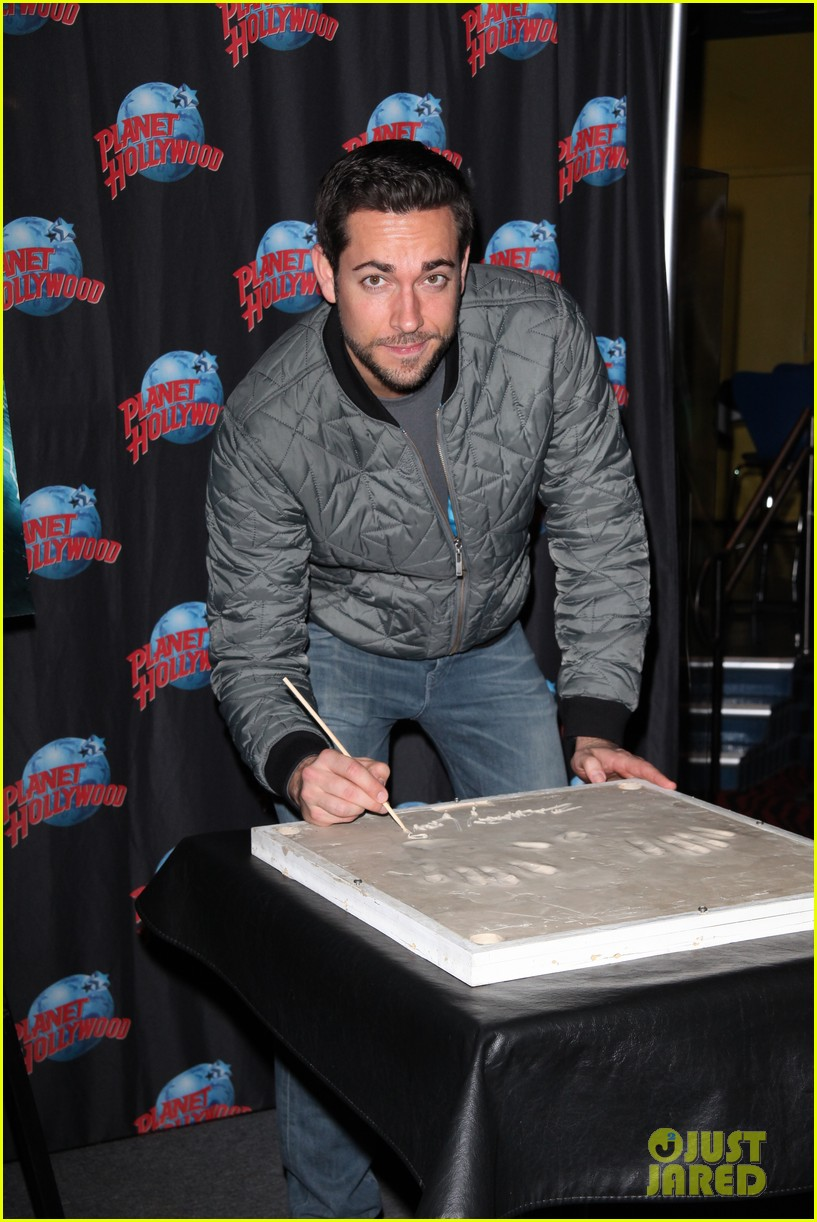 zachary levi planet hollywood handprint ceremony 11