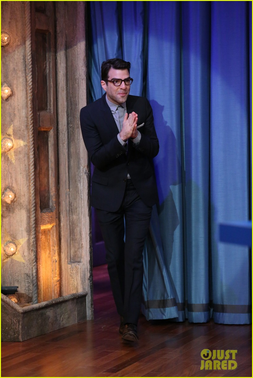 zachary quinto lucy liu play catchphrase on jimmy fallon 012986964