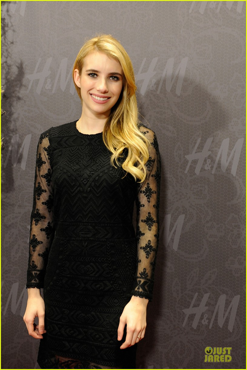 blake lively emma roberts hm new orleans store opening 06