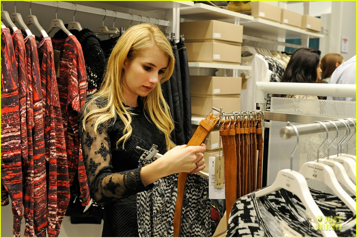 blake lively emma roberts hm new orleans store opening 072994377