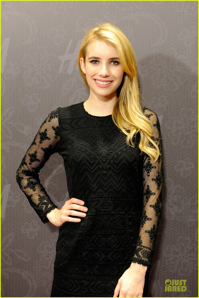 blake lively emma roberts hm new orleans store opening 092994379