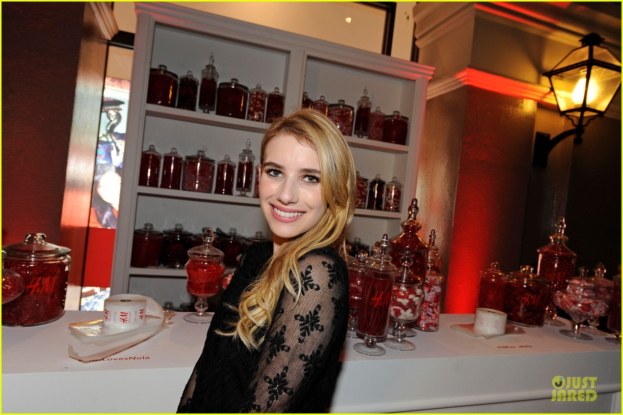 blake lively emma roberts hm new orleans store opening 142994384