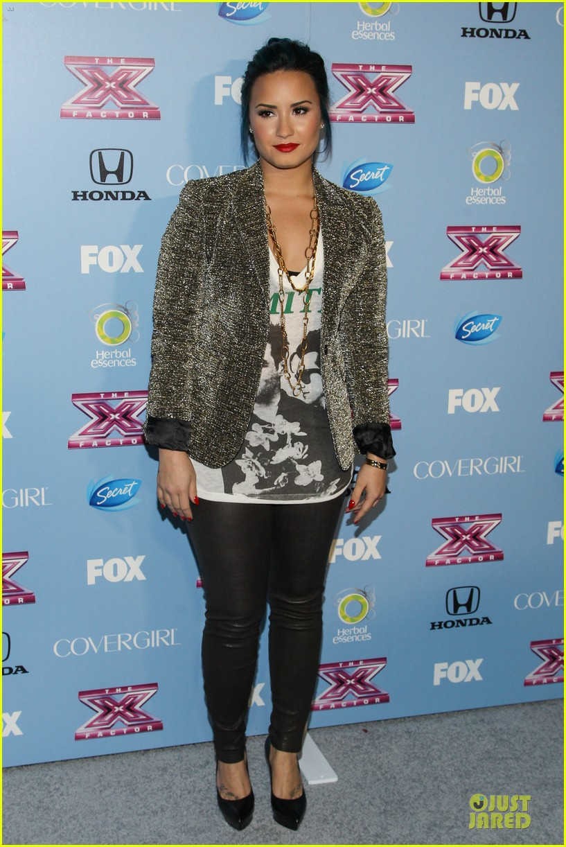 demi lovato kelly rowland x factor finalists party 01