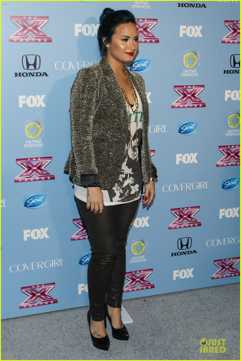 demi lovato kelly rowland x factor finalists party 09