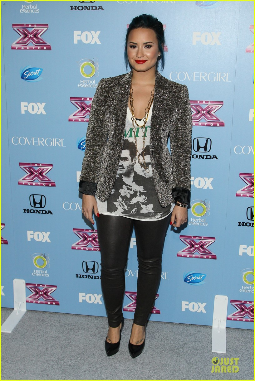 demi lovato kelly rowland x factor finalists party 112986371