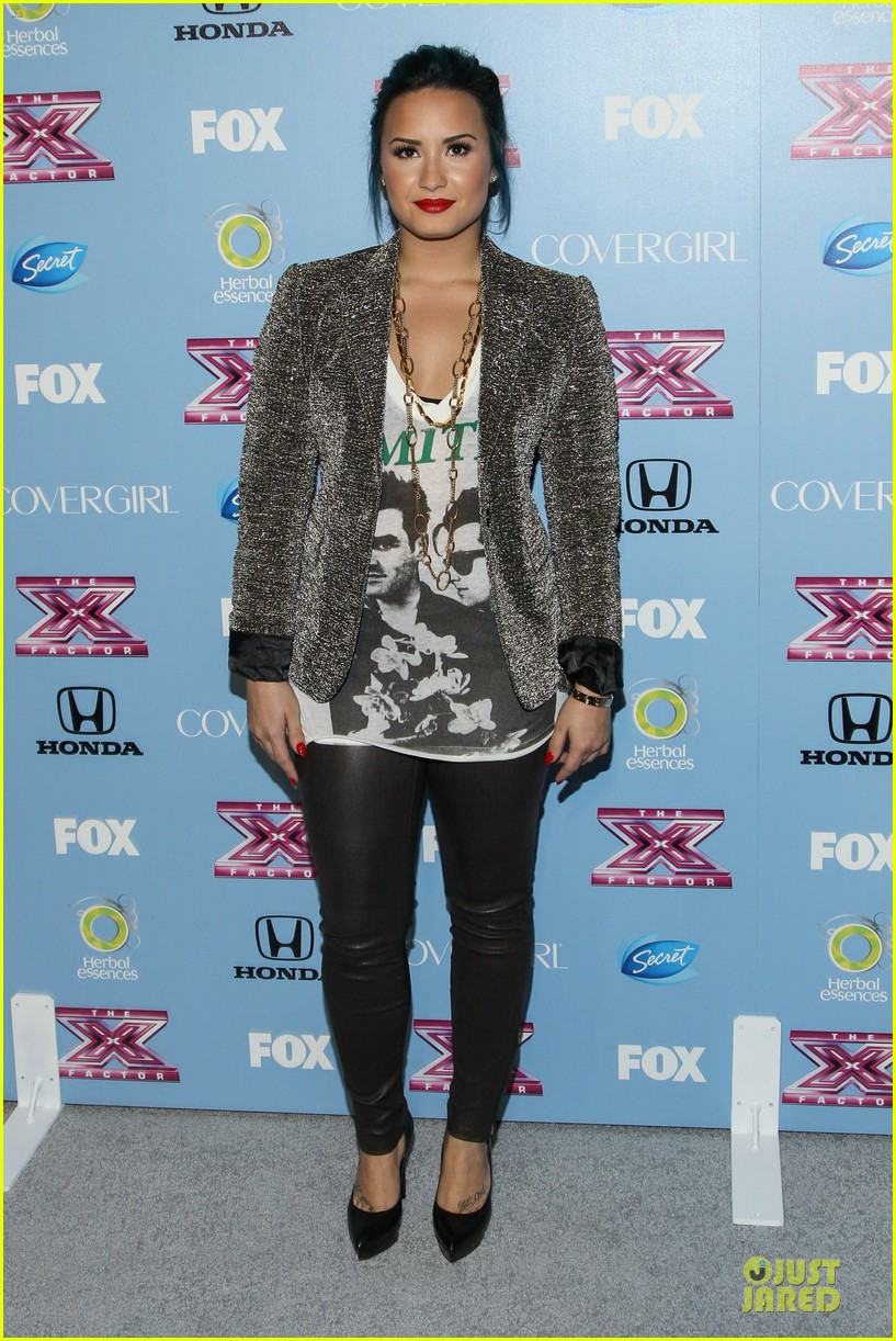 demi lovato kelly rowland x factor finalists party 132986373