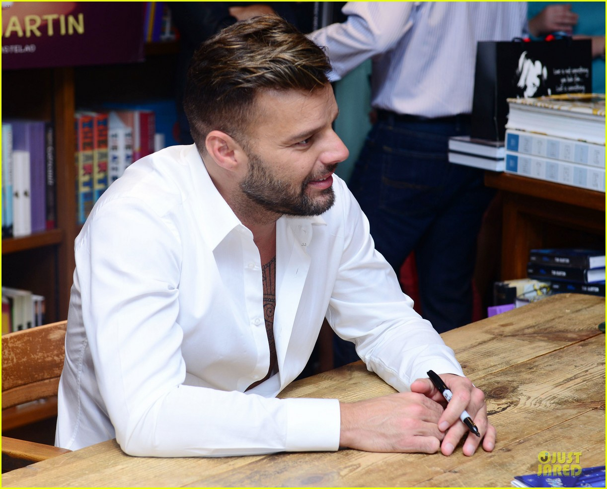 ricky martin flashes chest hair for santiago signing 082994120