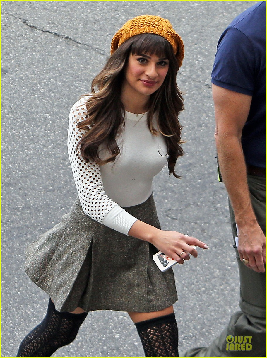 lea michele shares sneak peek for album cover shoot 02