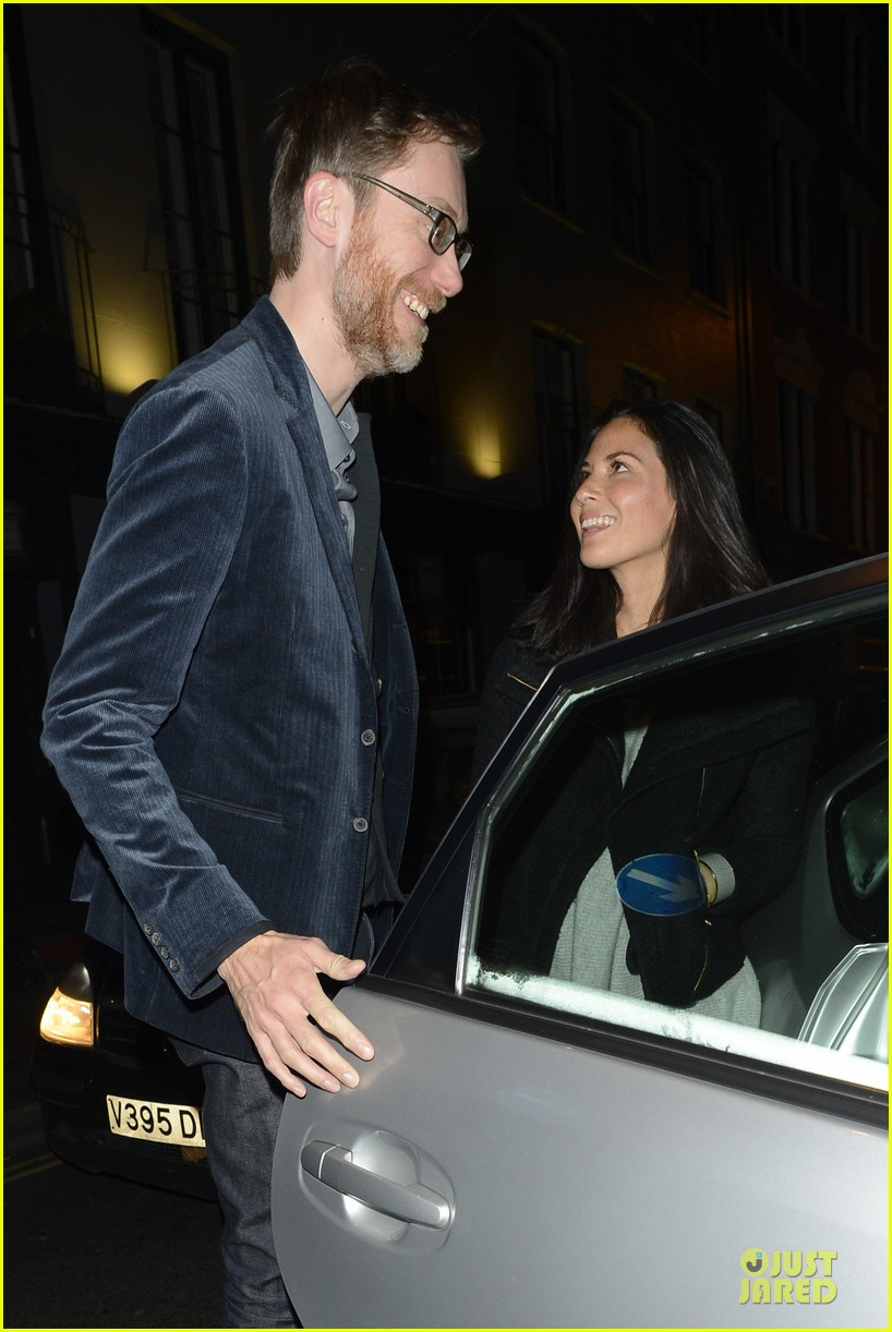 olivia munn groucho club with stephen merchant 162994066