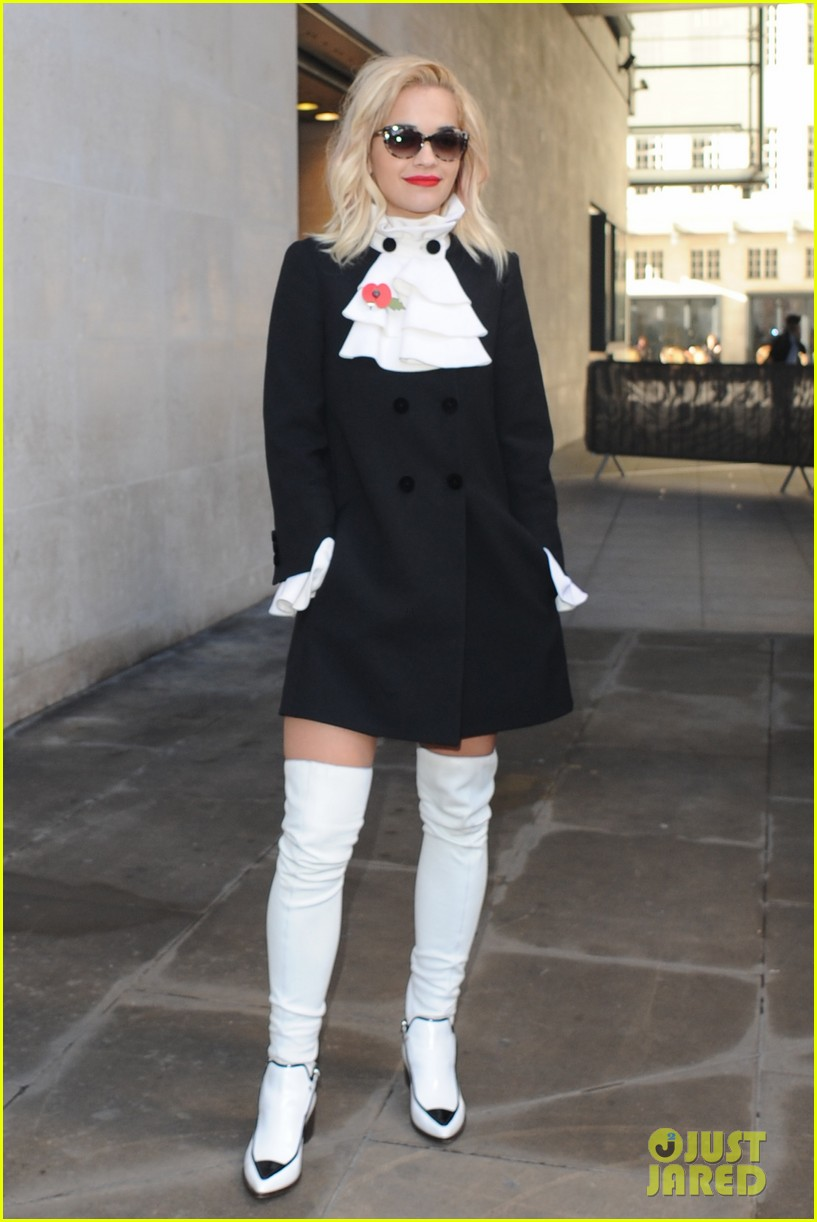 rita ora wakes up bright early to co host radio show 03