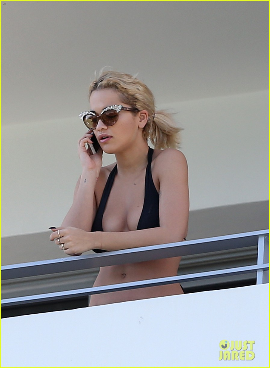 rita ora relaxes in her bikini after health scare 12