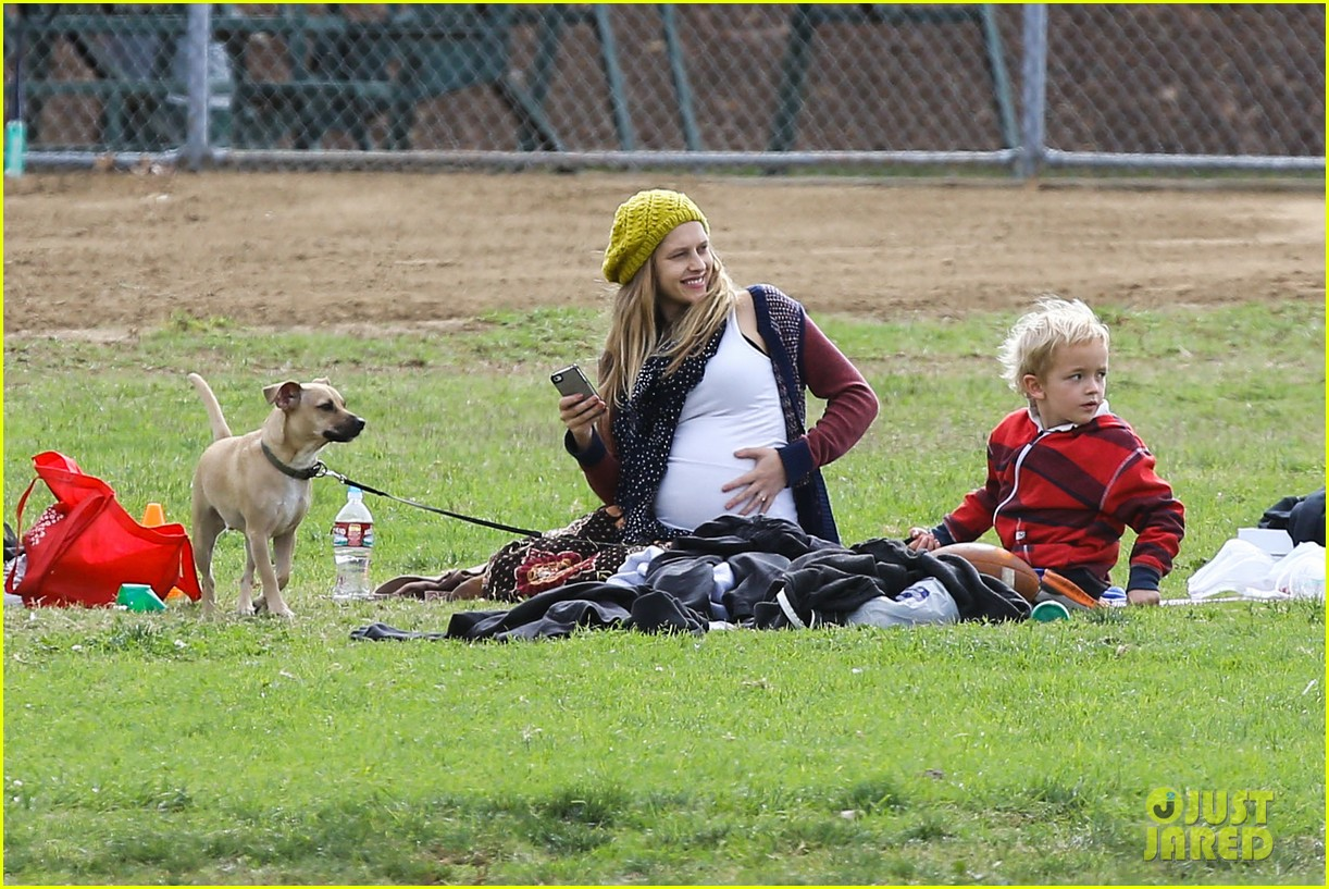 teresa palmer dives for ball during family football game 112998777