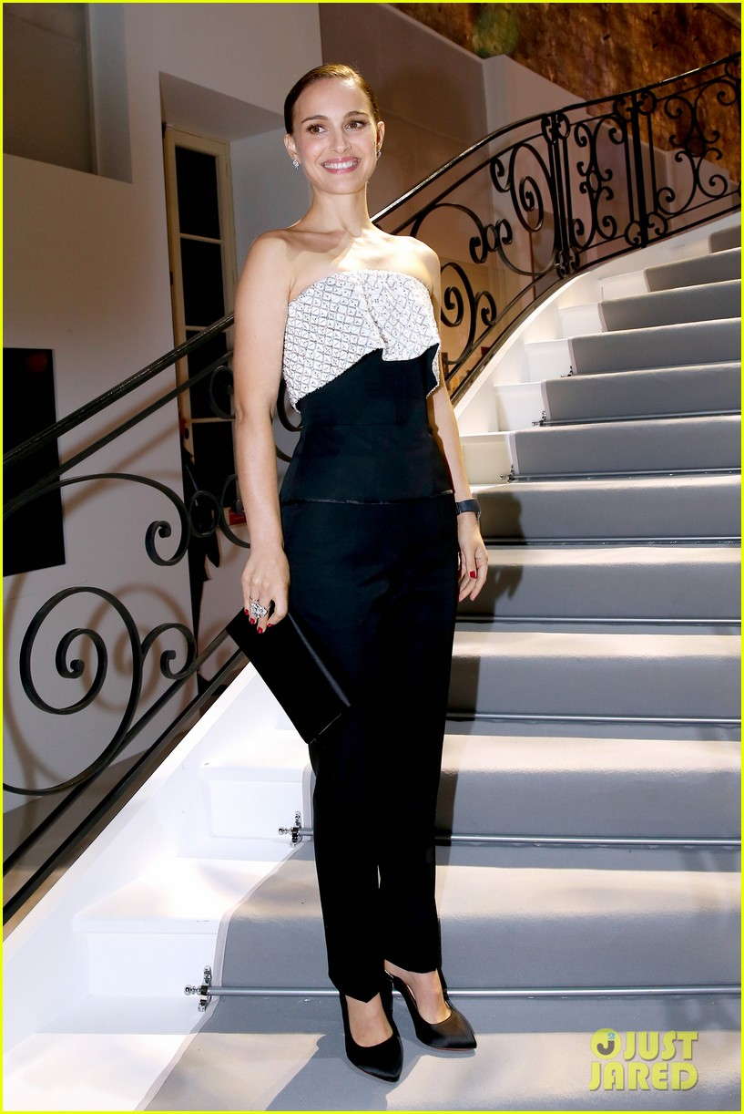 natalie portman miss dior exhibition with benjamin millepied 022991646